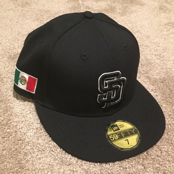 check out 06909 d533d San Diego Padres New Era 5950 Mexican Flag Hat